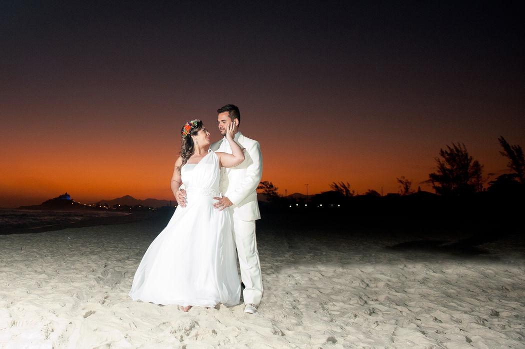 Destination Wedding - Casando na praia - Por do Sol