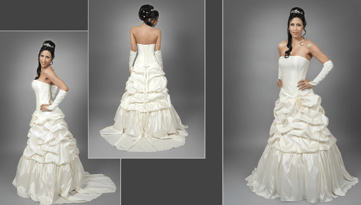 Beispiel: Brautmode aus der Schweiz, Foto: s'Bruthüsli.
