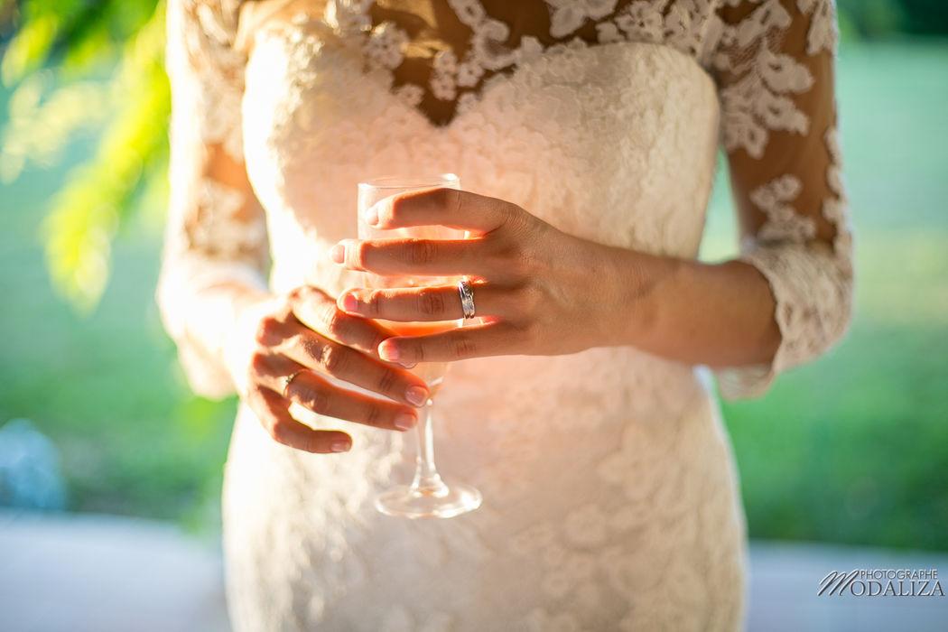 Alliance robe de mariée dentelle - modaliza photographe