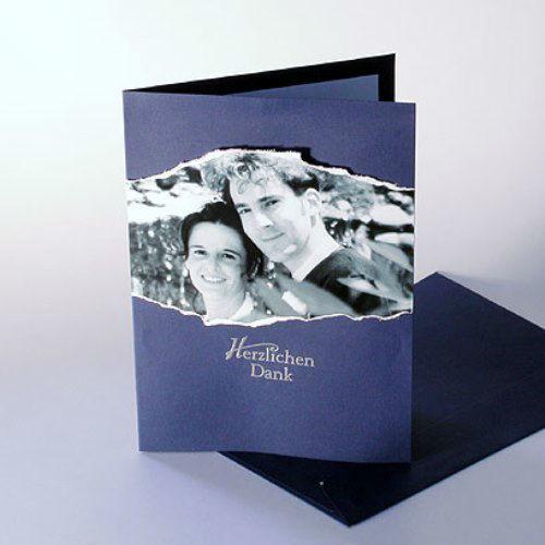Beispiel: Dankeskarten zur Hochzeit, Foto: Karten und mehr.