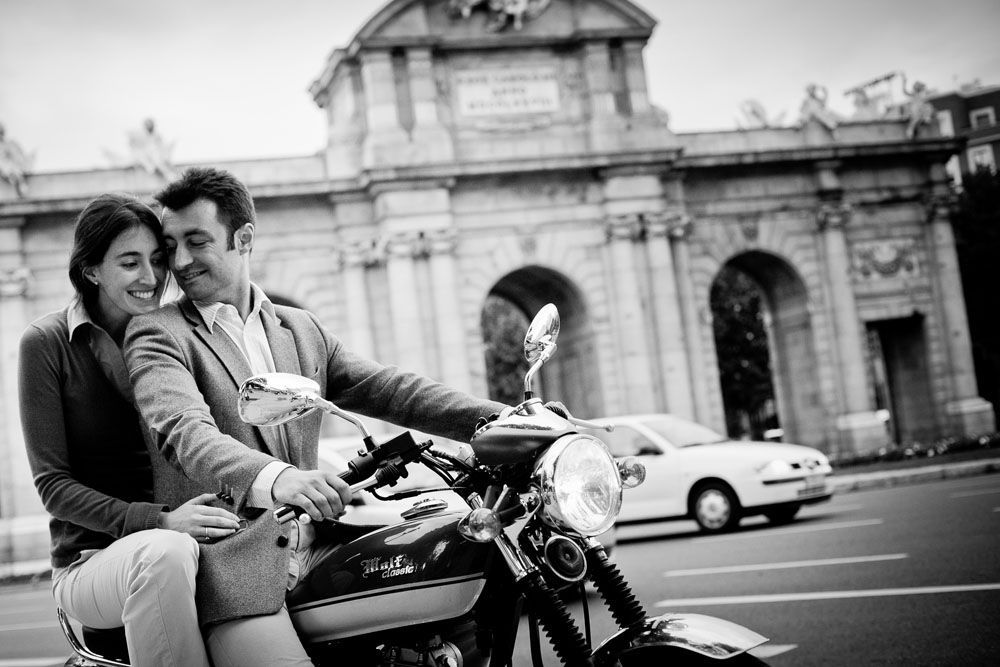 TripShooter -  Trendy couple on a motorbike   Photographer: Ludovic Magnoux