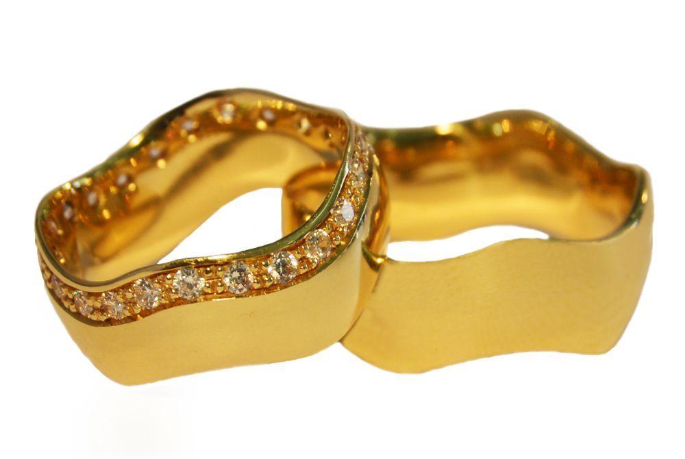 Alianças Casamento Ouro Amarelo ALC76