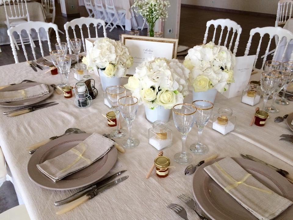 Mise de table avec nappage en lin