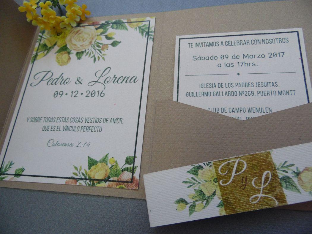 Garza Azul invitaciones y recuerdos
