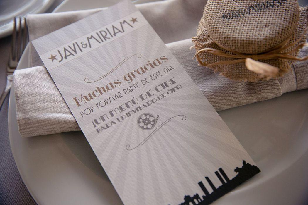We Are. - Wedding planner. Diseño de minutas.