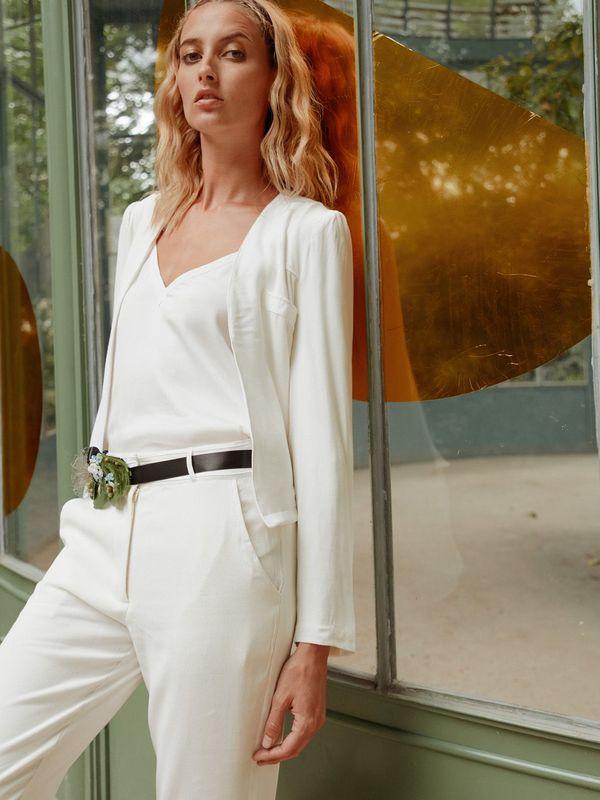 GREY - Veste de tailleur de mariée blanc - Myphilosophy Paris