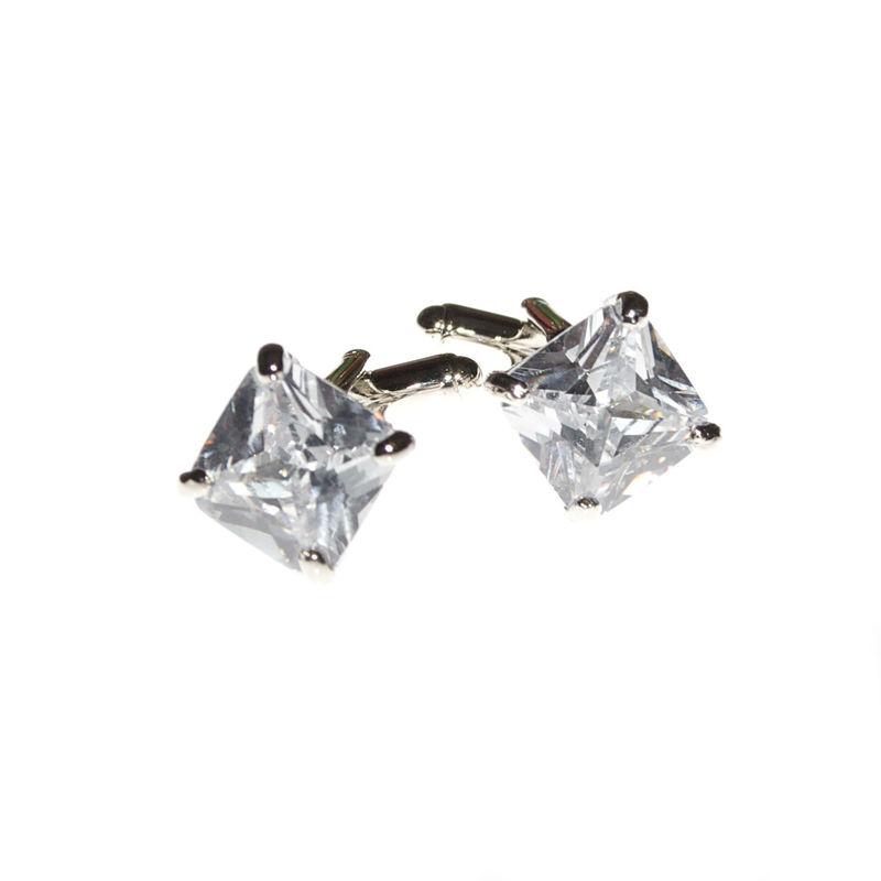 Arya Italian Jewels - Gioielli Sposo e Matrimonio - Gemelli per cravatta con Zircone bianco