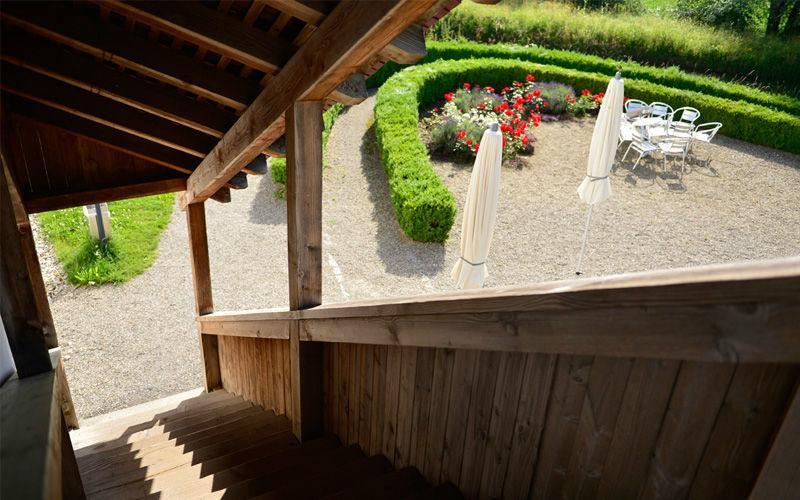 Beispiel: Treppe in den Schlossgarten, Foto: Wasserschloss Wyher.