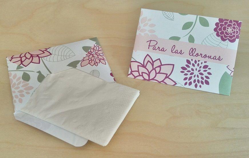 Sobres para Pañuelos Motivo: Flores Color: Marsala (morado)