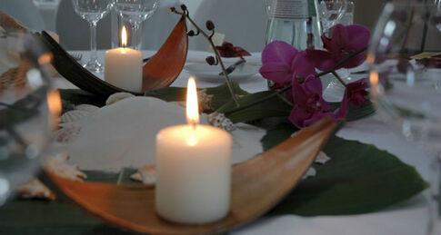 Beispiel: Tischdekoration, Foto: Kastanienhof.