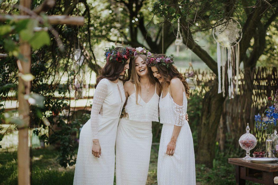 Fragment sesji ślubnej w stylu boho, Koncepcja, stylizacja i dobór wykonawców: Wedding Angels, Zdjęcia: Jagoda