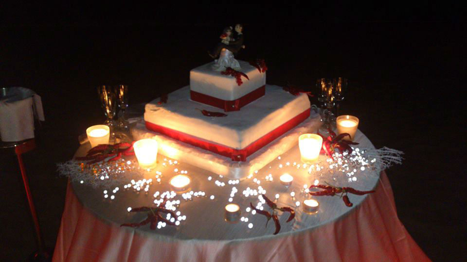 Villa Aragonese wedding cake