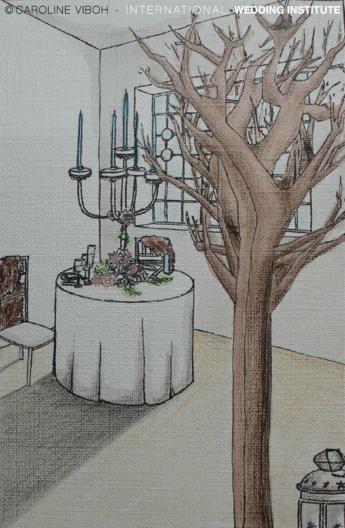 Beispiel: Konzeptszeichnung, Foto: International Wedding Institute.