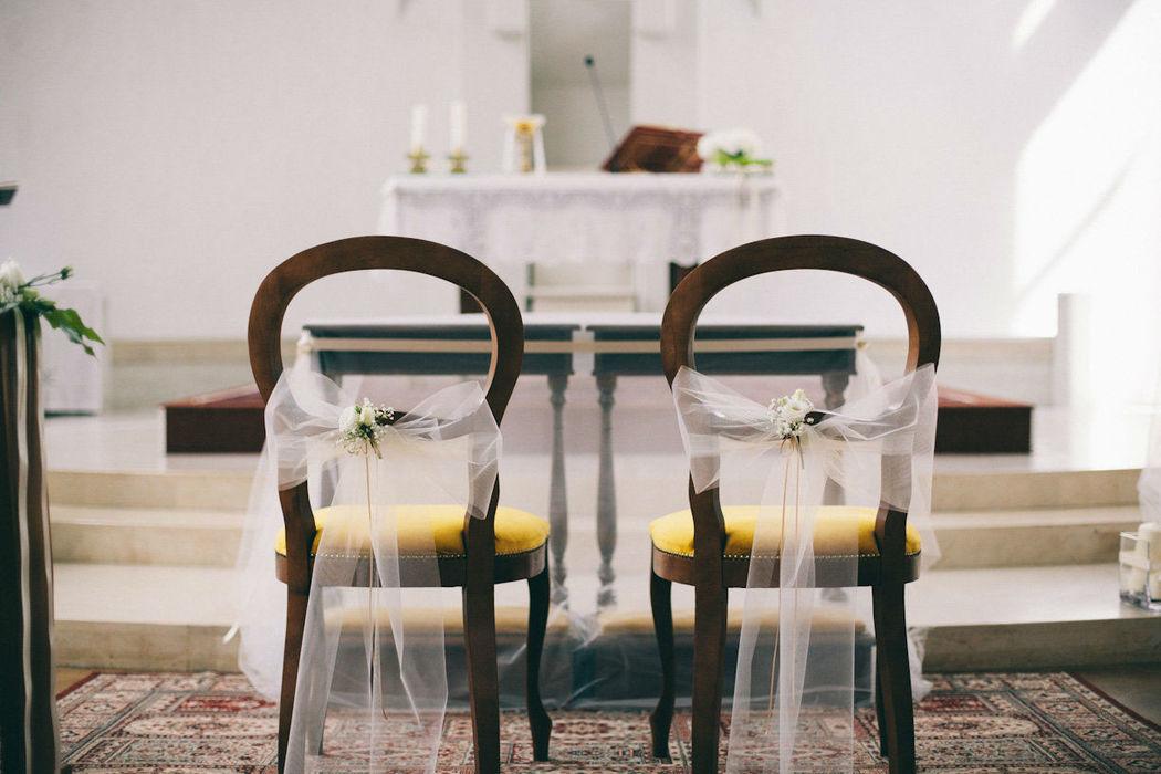 Decorazione sedute sposi