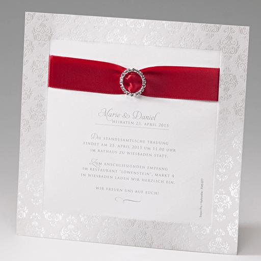 Beispiel: Einzigartige Hochzeitseinladung, Foto: Der-hochzeitskartenshop.de.
