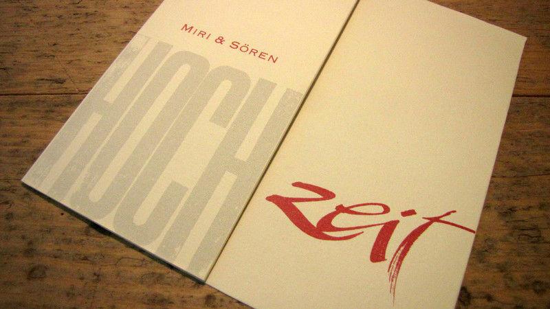 Beispiel: Überraschen Sie Ihre Gäste mit einer wunderschönen Einladung, Foto: Die Drucker Hochzeitskarten.
