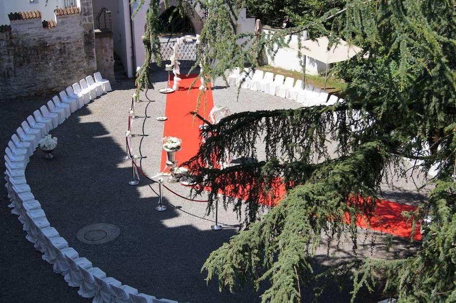 Beispiel: Trauungszeremonie, Foto: Schloss Wartensee.