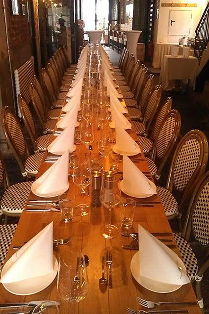 Beispiel: Hochzeitstafel, Foto: Wasserschloss Speicherstadt.
