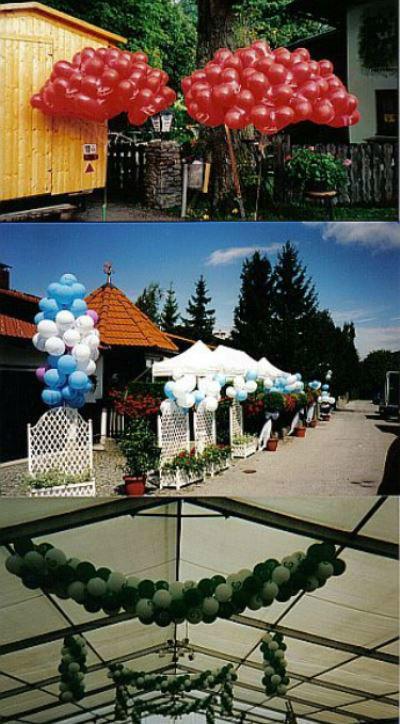 Beispiel: Verschiedene Ballondekorationen, Foto: Krickl Ballons.