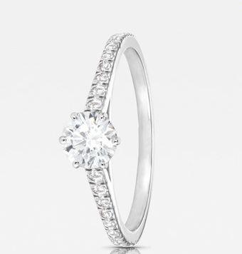 Beispiel: Verlobungsring, Foto: Seventy Seven Diamonds.