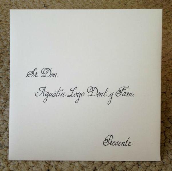 Rotulación a mano de Invitaciones  Caligrafía para tu boda www.caligrafiaparatuboda.com ventas@caligrafiaparatuboda.com