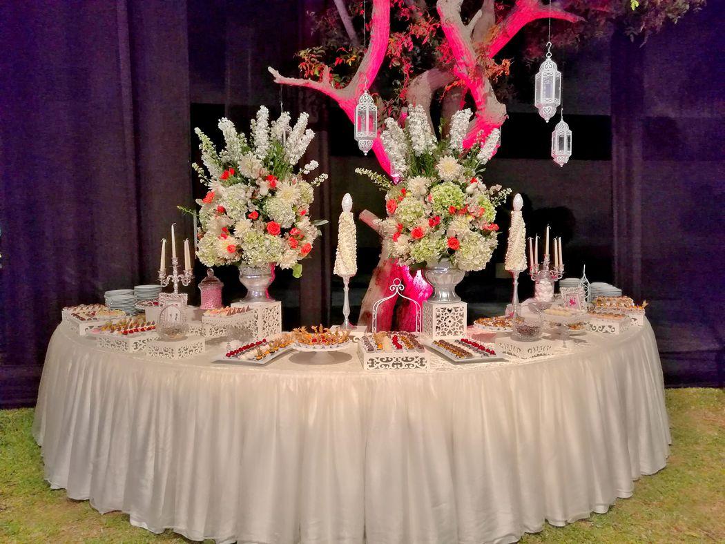 Mesa de dulces.