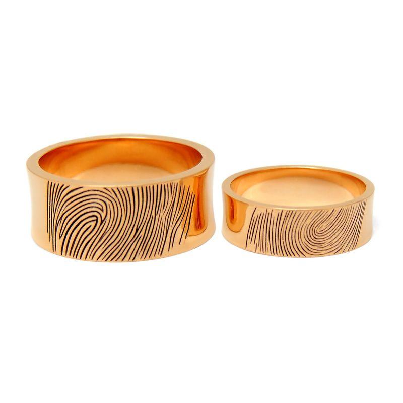 Кольца с отпечатками пальцев 3 Для расчета стоимости или заказа звоните  8 (495) 125 25 05