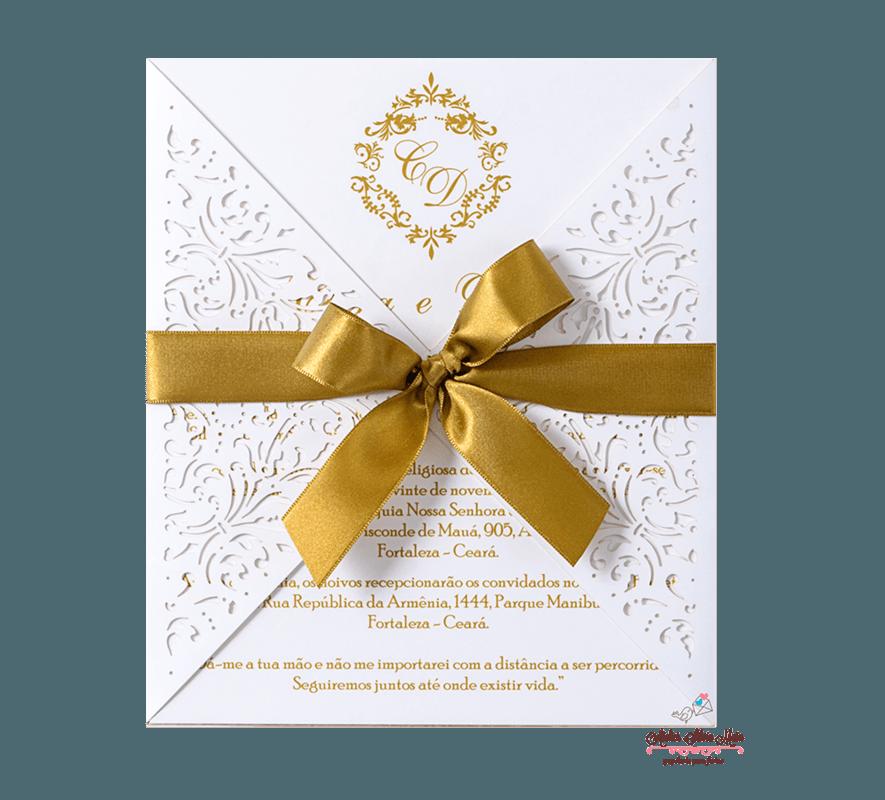 Convite Corte A Laser  - Ref . CL.027