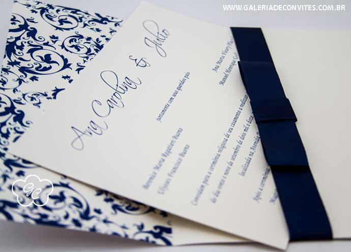 convite de casamento modelo 77