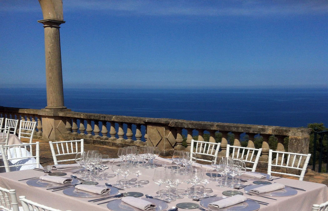 El mar siempre estupendo decorado en una boda