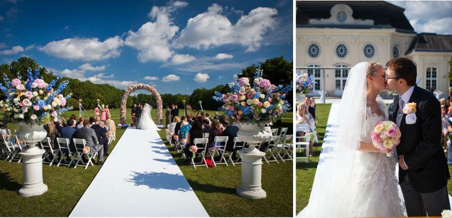 Beispiel: Hochzeit unter freiem Himmel, Foto: Avorio Hochzeitsorganisation.