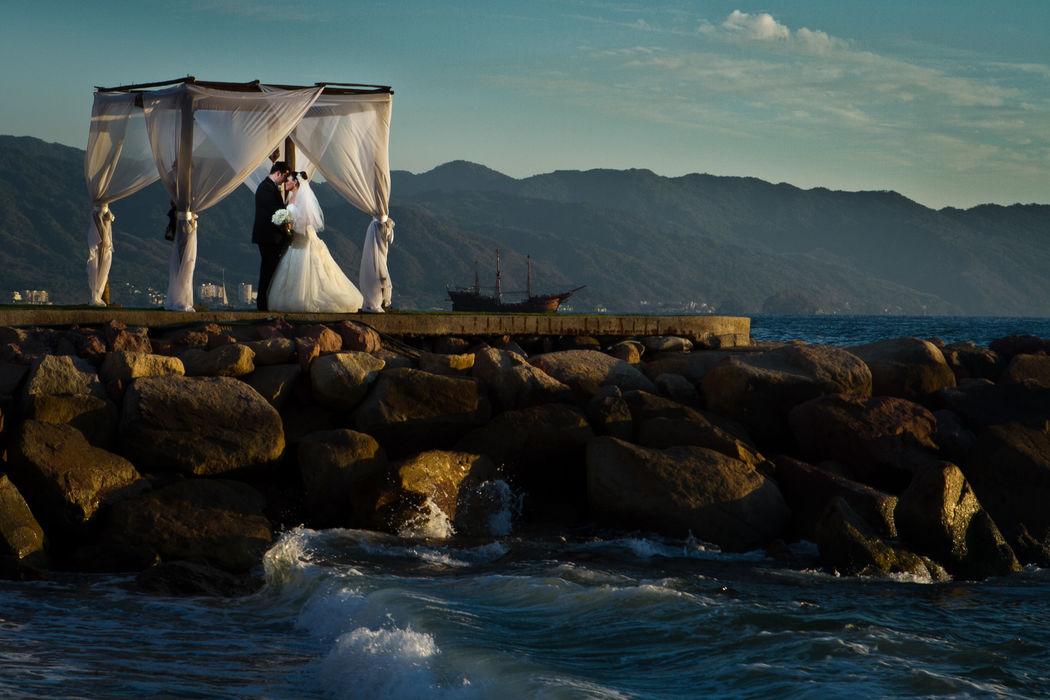 Fotografía de bodas en Puerto Vallarta.