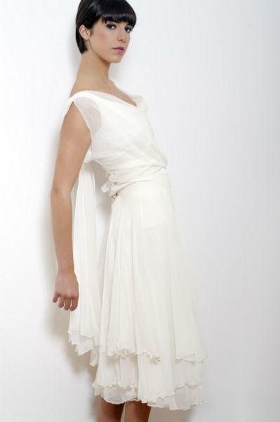 Robe de mariée courte Odile Léonard