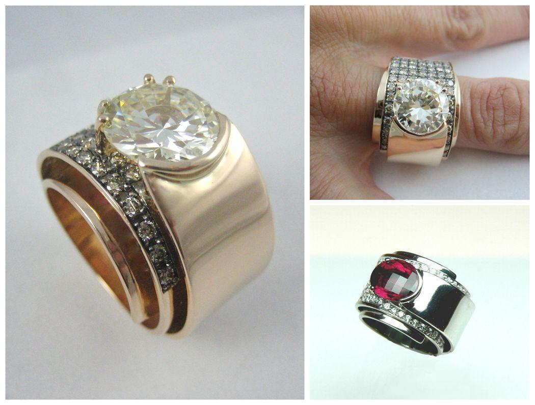 Tal vez tienes la suerte de heredar un diamante de familia... si es así pide cita y Victoria de la Calva te diseñará un anillo único.