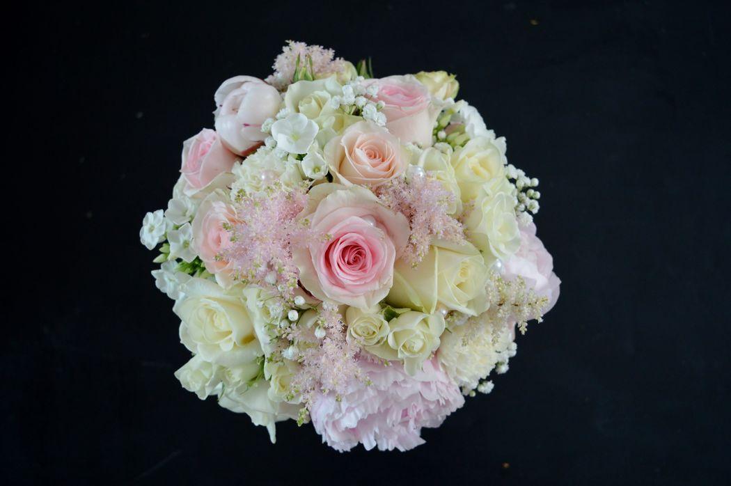 Bouquet de mariée thème romantique
