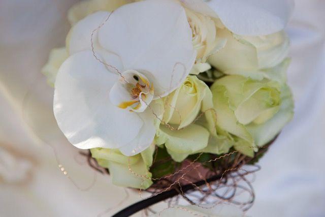 Bouquet de mariée graphique