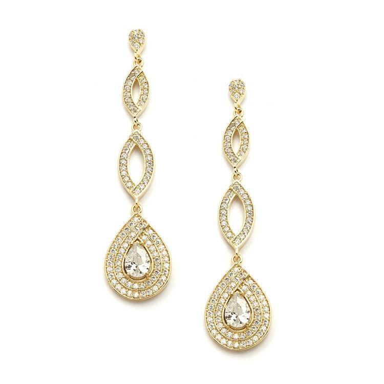 Boucles d'oreilles chandelier Goutte d'Or