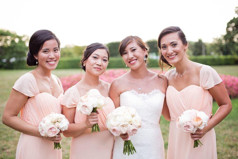 Cortège - bouquets demoiselles d'honneur