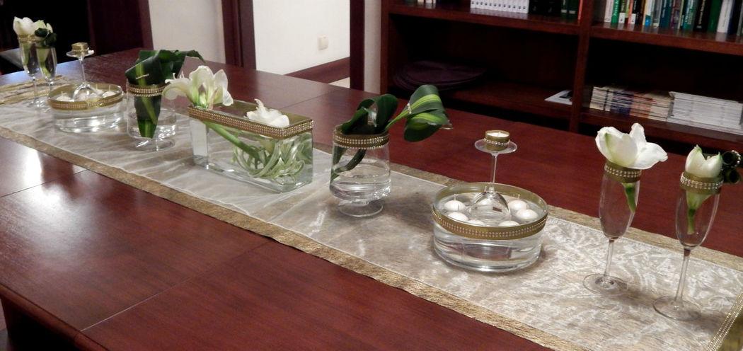aranżacja stołu na obiad weselny,gustowna elegancja z amarylisem