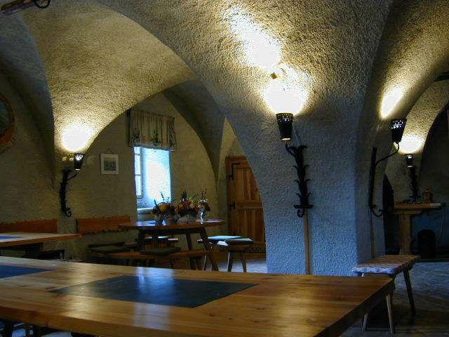 Beispiel: Kellergewölbe, Foto: Burg Strechau.