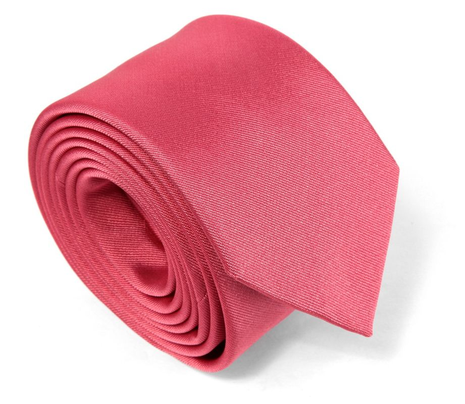 Cravate en soie rose corail - Maison de la Cravate