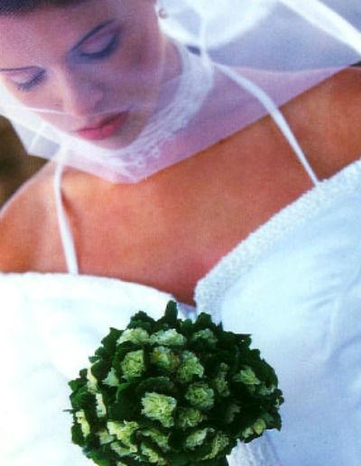 Beispiel: Brautstrauß, Foto: Rosige Zeiten.