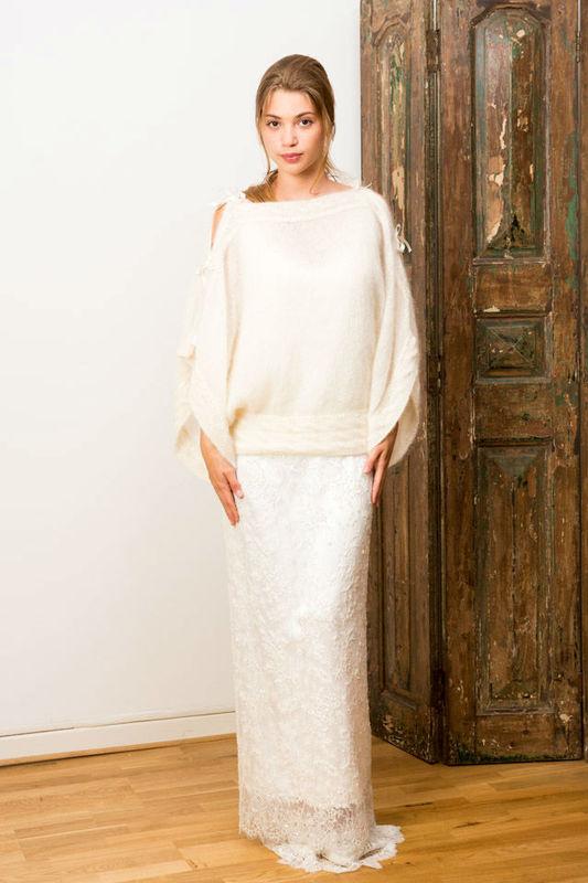 Beispiel: Langärmeliges Brautkleid, Foto: Gwanni.