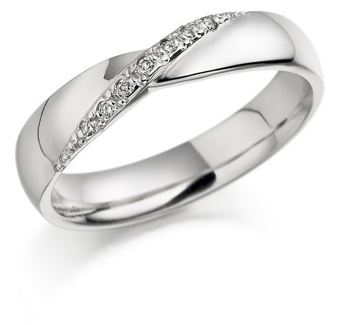 AM45 Aros de matrimonio con diamantes. Hechos a medida en oro blanco o amarillo 18K.