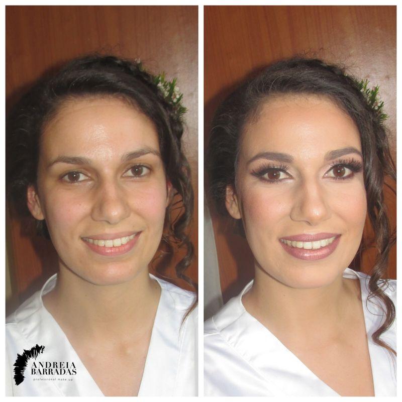 Noiva antes e depois