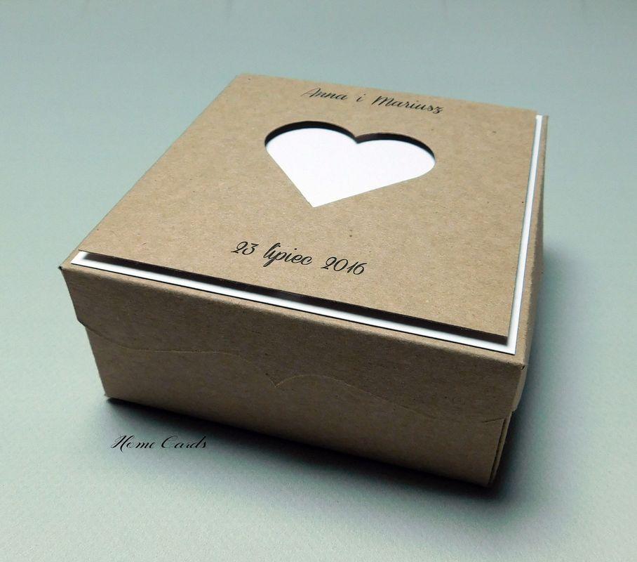 Zaproszenie w formie pudełka eko