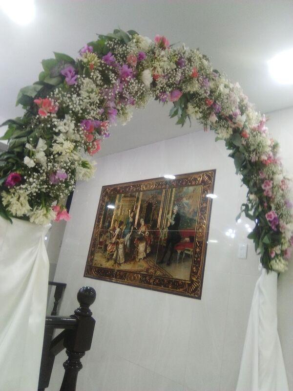 Arco de flores naturales