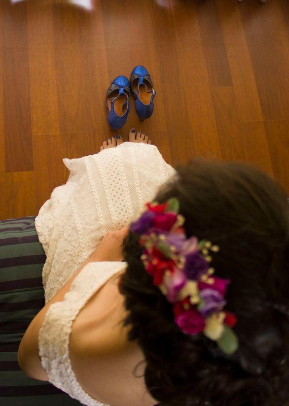 Los zapatitos azules