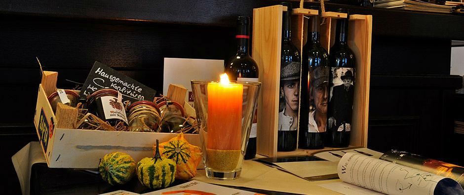 Beispiel: Tischdekoration, Foto: Badischer Hof Seckenheim.