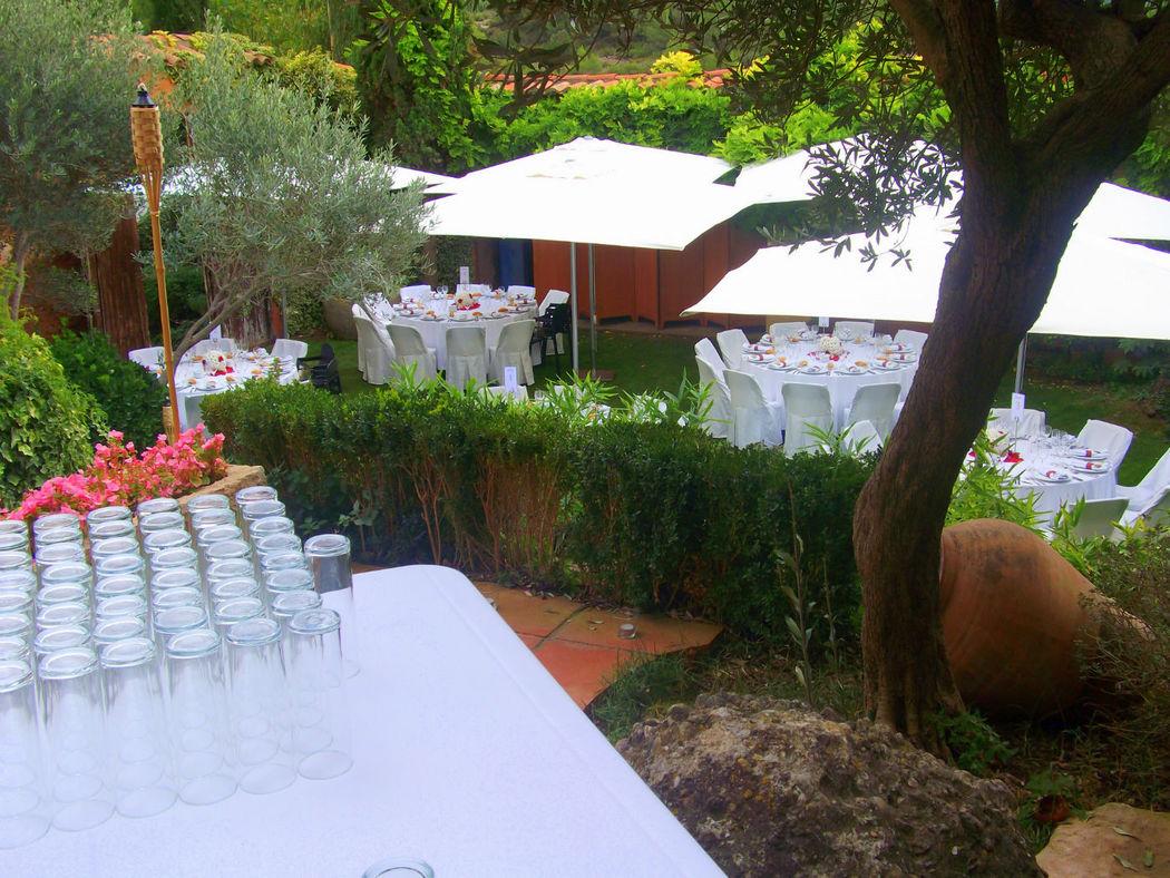 Porche + jardin privado casa Espigol